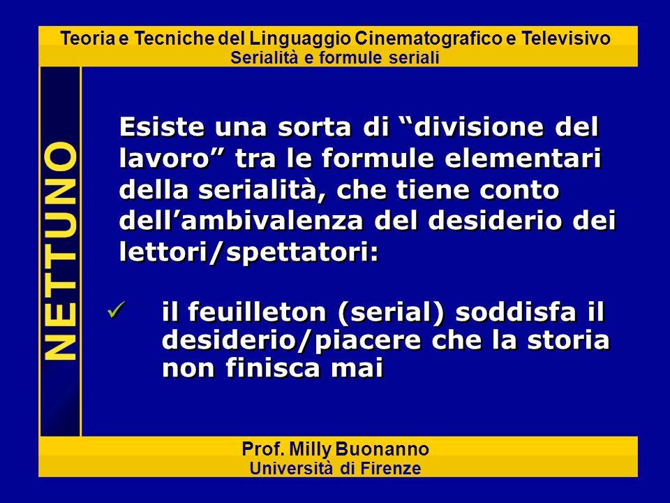 Teoria e Tecniche del Linguaggio Cinematografico e Televisivo Serialità e formule seriali Prof. Milly Buonanno Università di Firenze il feuilleton (se