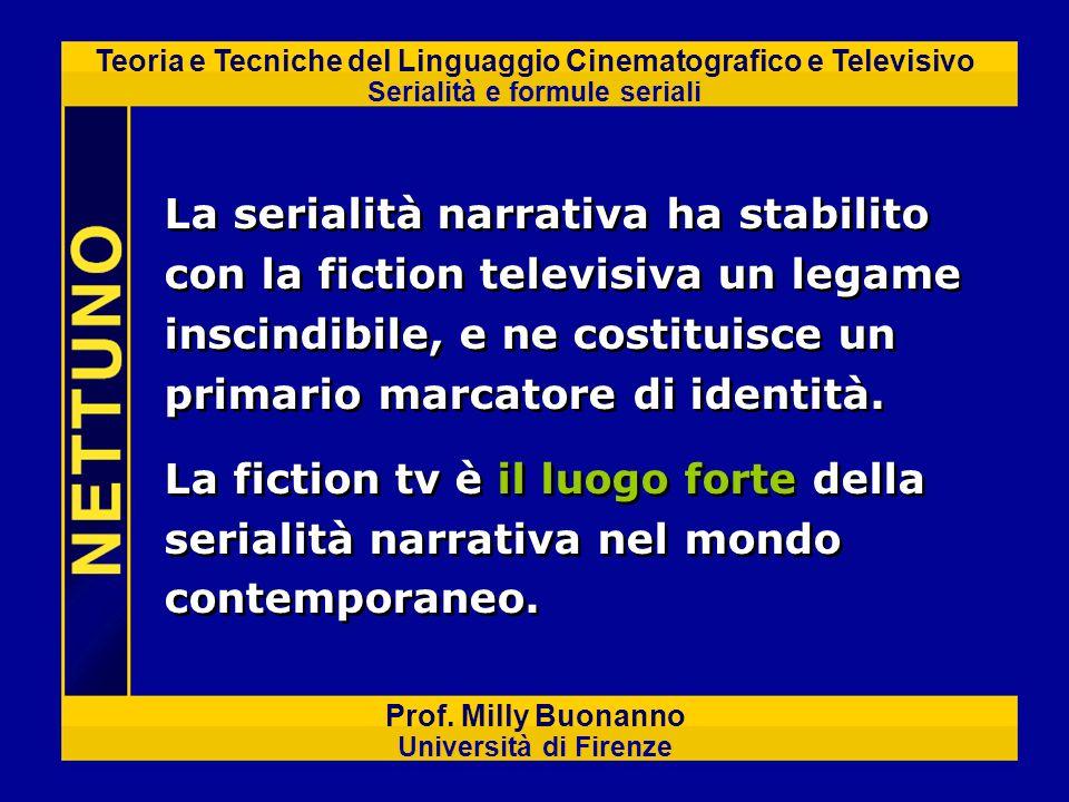 Teoria e Tecniche del Linguaggio Cinematografico e Televisivo Serialità e formule seriali Prof. Milly Buonanno Università di Firenze La serialità narr