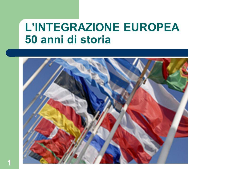 1 LINTEGRAZIONE EUROPEA 50 anni di storia