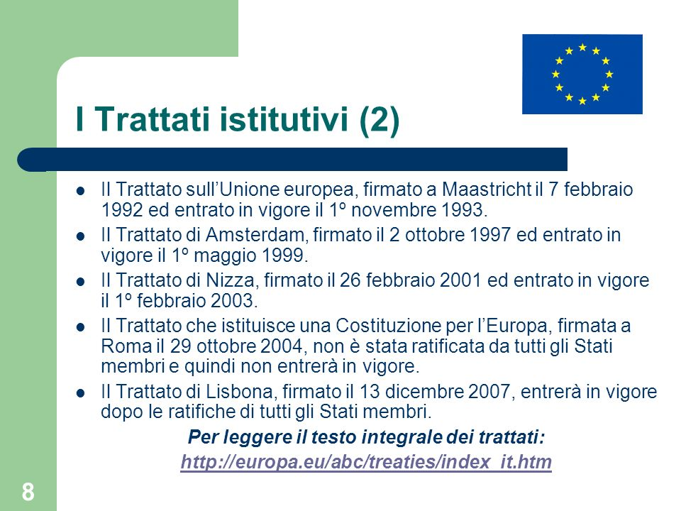29 Il Trattato di Amsterdam: le modifiche al Trattato CE Nuovo Titolo IV: visti, asilo, immigrazione.