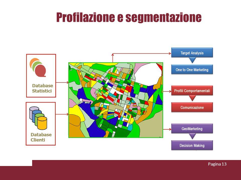 Profilazione e segmentazione Pagina 13