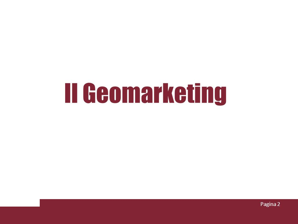 Il Geomarketing Pagina 2