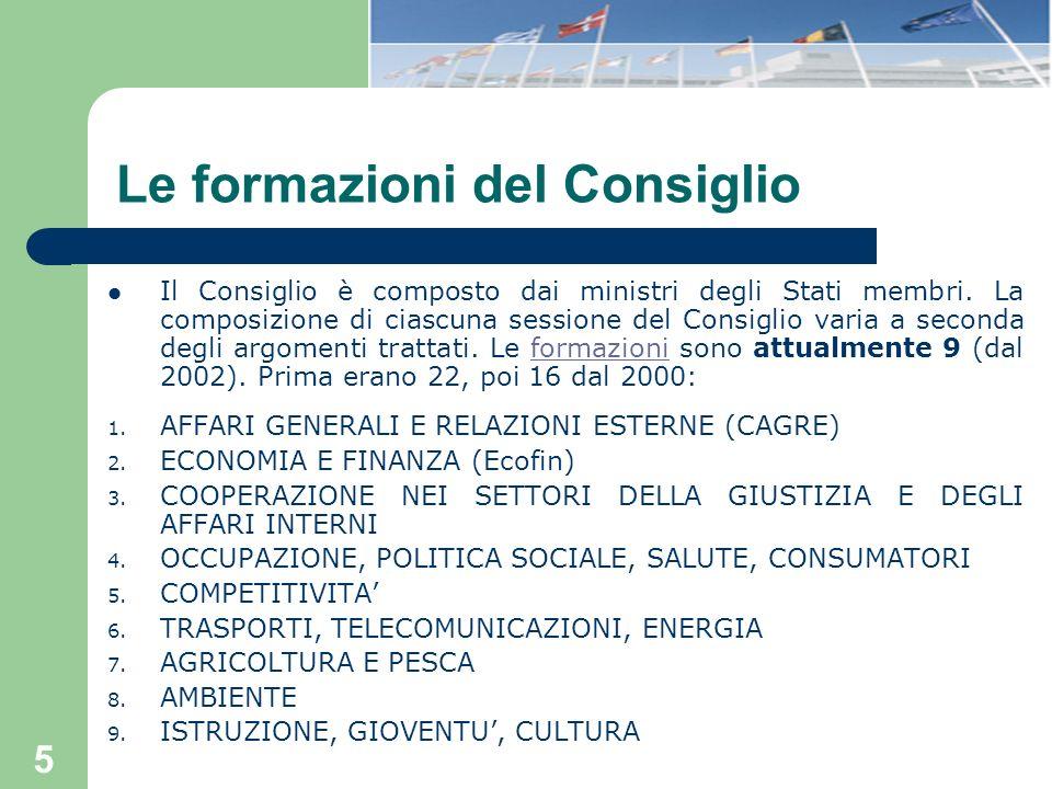6 La composizione del Consiglio: cosa cambia con il T.
