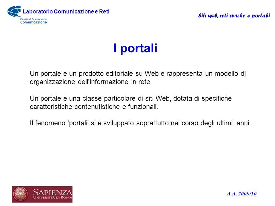 Laboratorio Comunicazione e Reti A.A.
