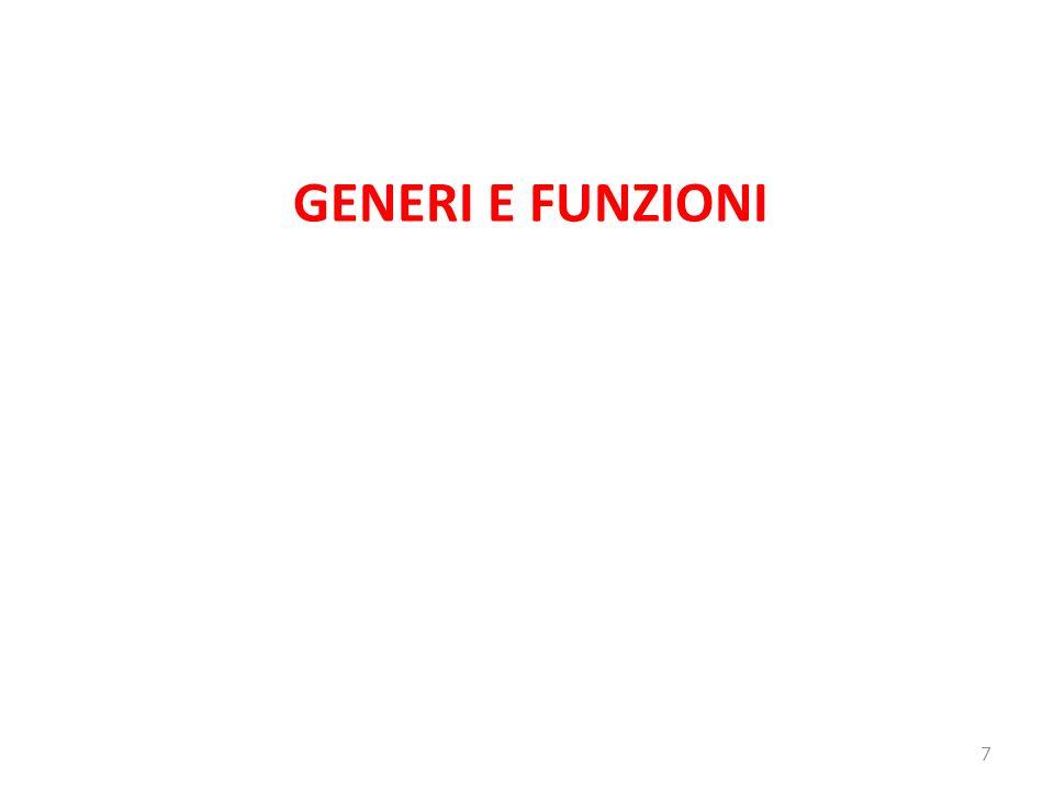 GENERI E FUNZIONI 7