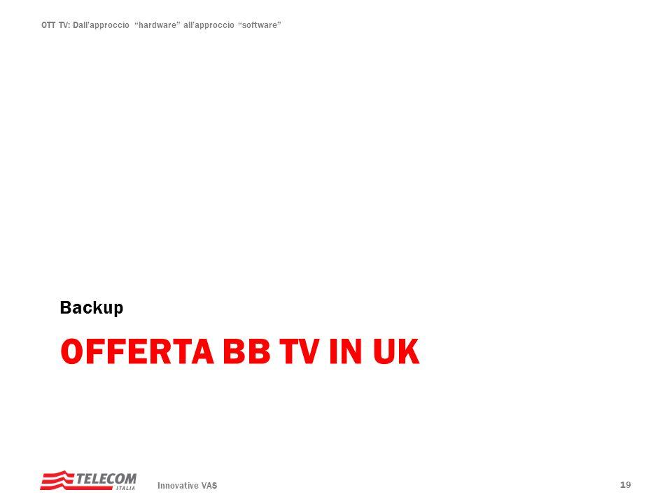 OTT TV: Dallapproccio hardware allapproccio software OFFERTA BB TV IN UK Backup Innovative VAS 19