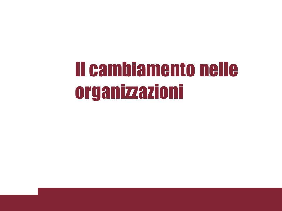 Obiettivo e contenuto della lezione Lobiettivo della lezione è lanalisi del cambiamento organizzativo attraverso: La definizione di cambiamento organizzativo lindividuazione delle caratteristiche che il cambiamento può avere nelle organizzazioni la descrizione delle modalità con cui gestire il cambiamento nelle organizzazioni 3