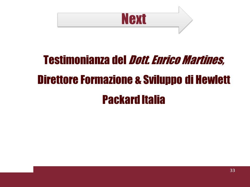 Next Testimonianza del Dott. Enrico Martines, Direttore Formazione & Sviluppo di Hewlett Packard Italia 33