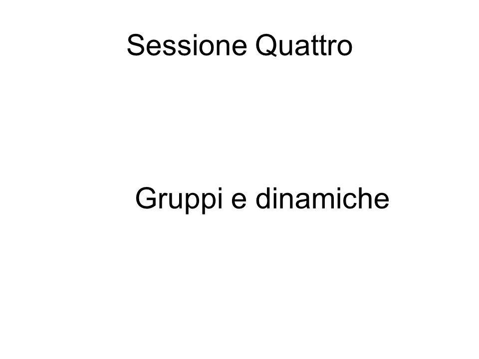 Sessione Quattro Gruppi e dinamiche