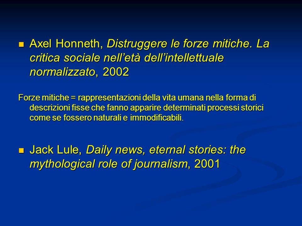 Axel Honneth, Distruggere le forze mitiche. La critica sociale nelletà dellintellettuale normalizzato, 2002 Axel Honneth, Distruggere le forze mitiche