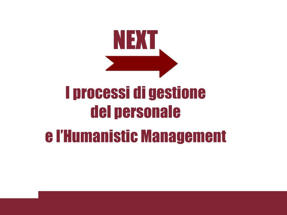NEXT I processi di gestione del personale e lHumanistic Management