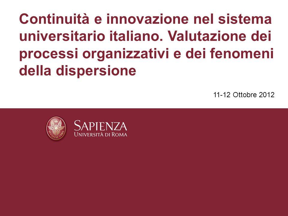 Parte IIIc – Analisi della posizione di laureato Il livello di produttività del sistema Sapienza è qui inteso come capacità di condurre gli studenti al conseguimento del titolo.