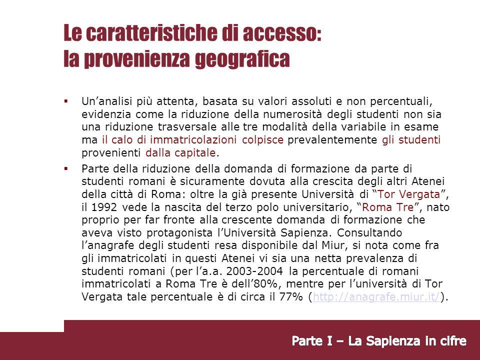 Seconde conclusioni Retention: relativa stabilità nelle tre coorti analizzate.