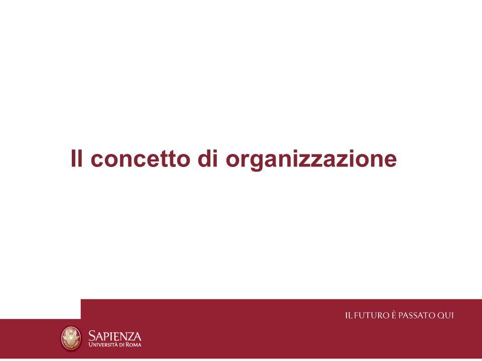 Che cosè unorganizzazione Unorganizzazione è unentità collettiva dotata di qualche formalizzazione costituita per raggiungere fini.