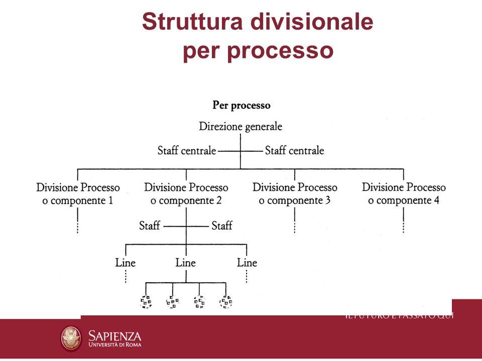 Struttura divisionale per processo