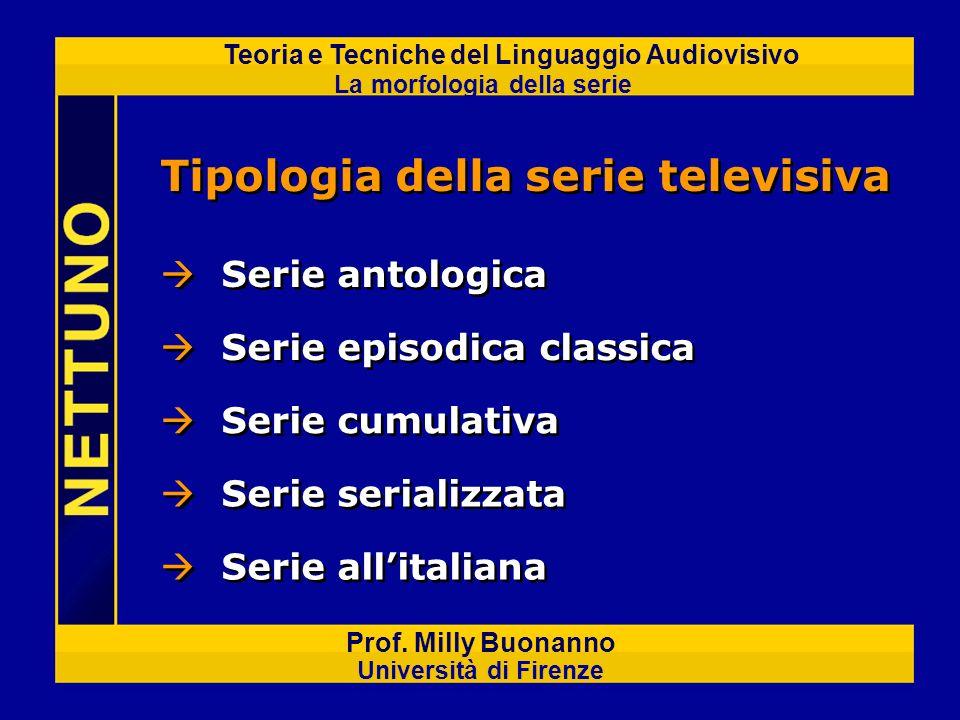 La morfologia della serie Prof.