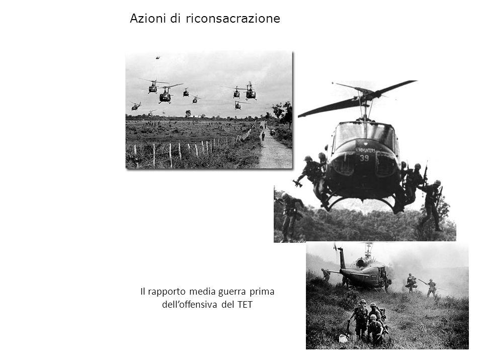 Il rapporto media guerra prima delloffensiva del TET Azioni di riconsacrazione