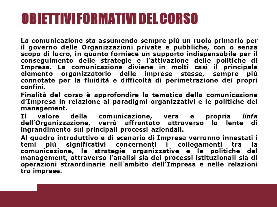 Le politiche di comunicazione esterna.