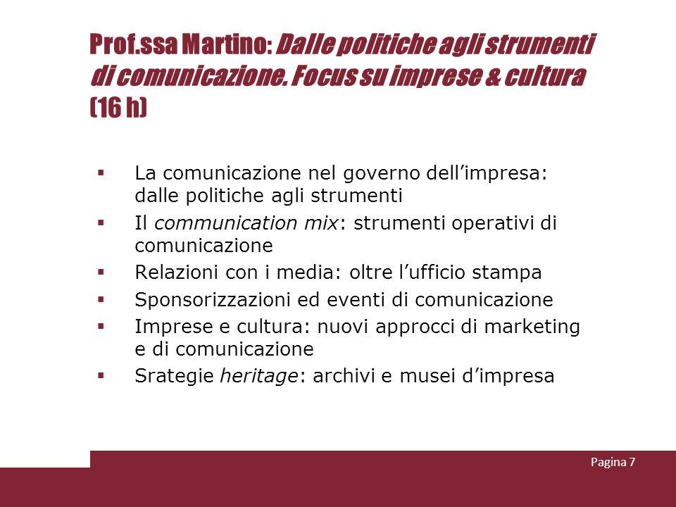 Prof.ssa Martino: Dalle politiche agli strumenti di comunicazione.