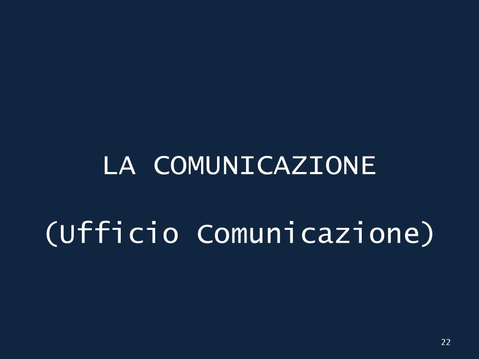 LA COMUNICAZIONE (Ufficio Comunicazione) 22