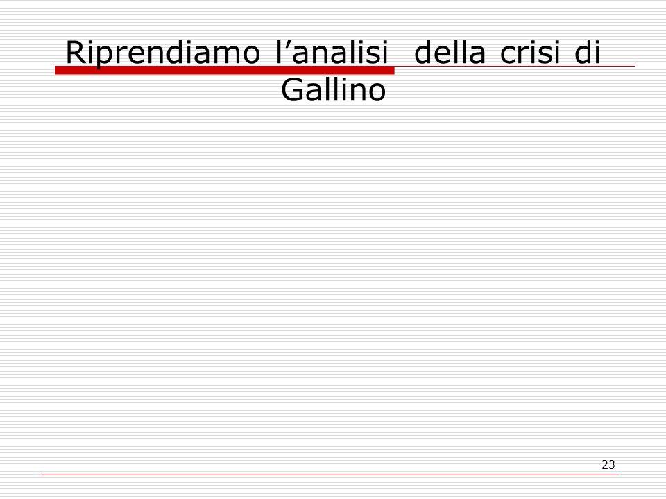 23 Riprendiamo lanalisi della crisi di Gallino