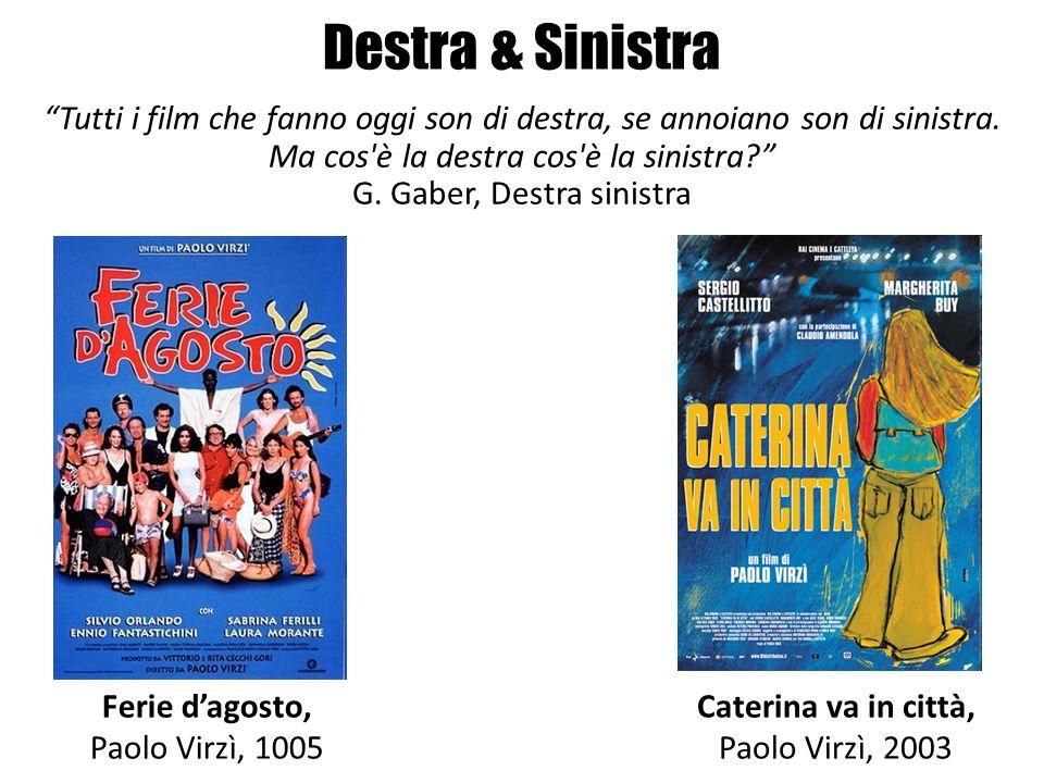Destra & Sinistra Ferie dagosto, Paolo Virzì, 1005 Caterina va in città, Paolo Virzì, 2003 Tutti i film che fanno oggi son di destra, se annoiano son