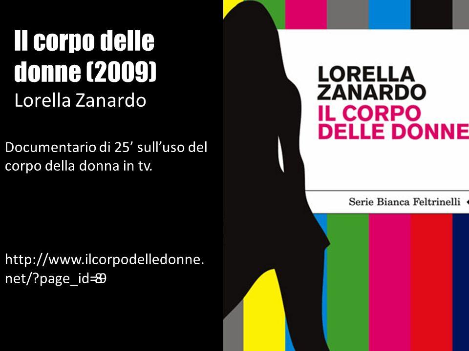 Il corpo delle donne (2009) Lorella Zanardo Documentario di 25 sulluso del corpo della donna in tv. http://www.ilcorpodelledonne. net/?page_id=89