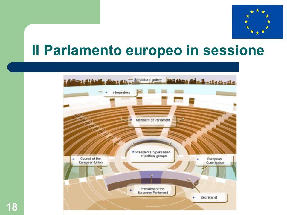 18 Il Parlamento europeo in sessione