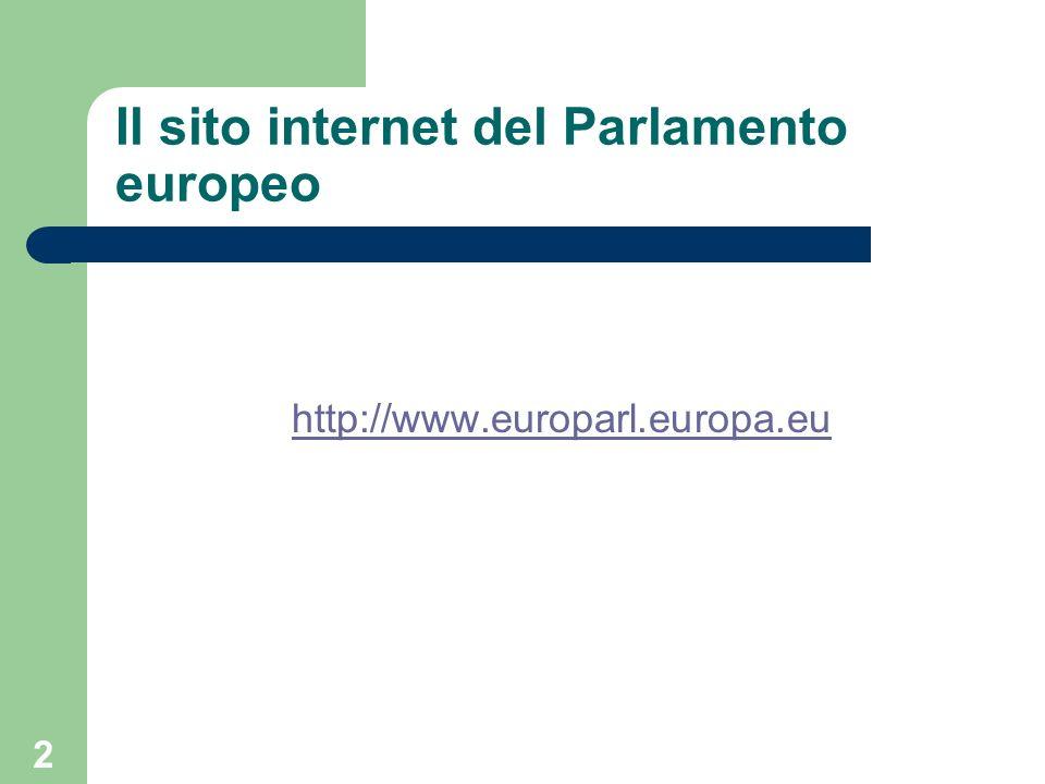 3 Il Parlamento europeo: storia (1) Inizialmente Assemblea parlamentare, poi Parlamento europeo con decisione 30 marzo 1962.