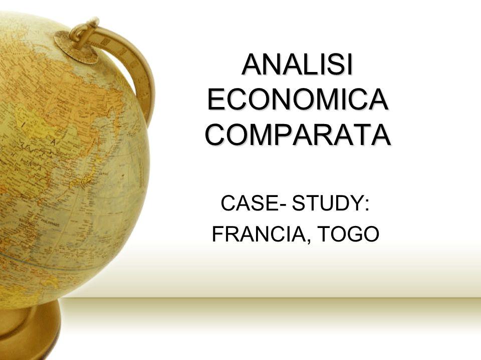 ANALISI ECONOMICA COMPARATA CASE- STUDY: FRANCIA, TOGO