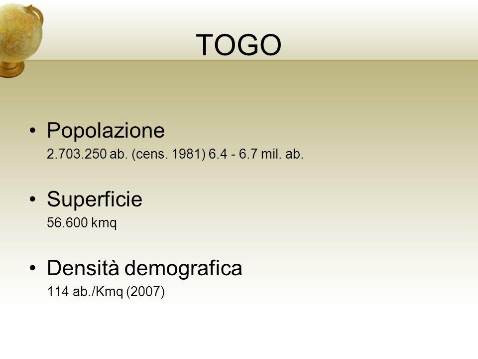 TOGO Situazione Istituzionale attuale e ordinamento dello Stato Repubblica indipendente dal 20 settembre 1960.