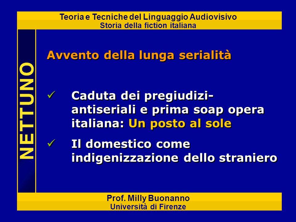 Teoria e Tecniche del Linguaggio Audiovisivo Storia della fiction italiana Prof. Milly Buonanno Università di Firenze Avvento della lunga serialità Ca