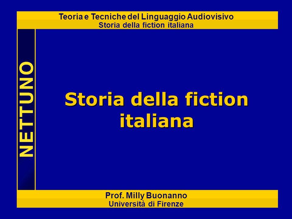 Teoria e Tecniche del Linguaggio Audiovisivo Storia della fiction italiana Prof. Milly Buonanno Università di Firenze Storia della fiction italiana
