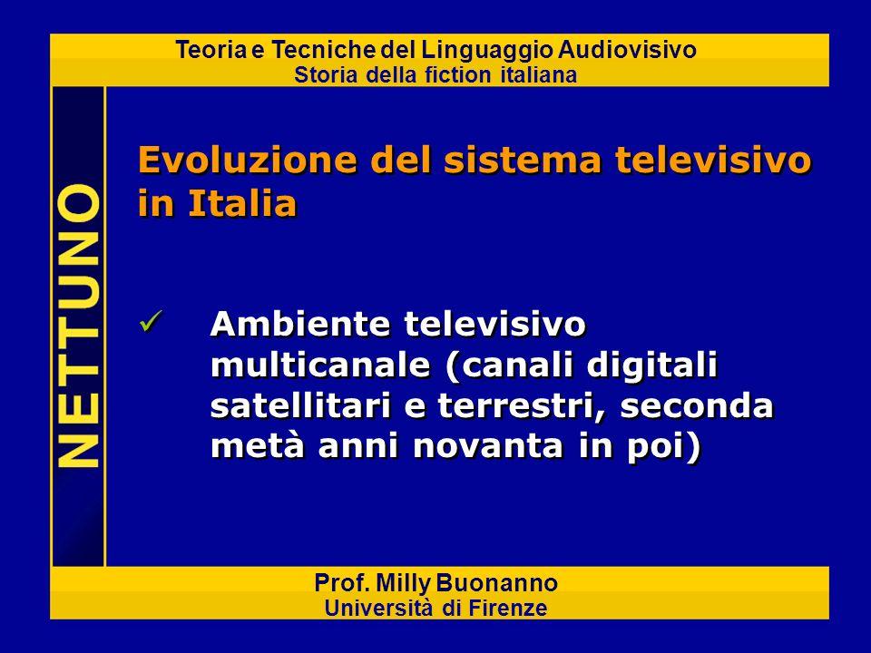 Teoria e Tecniche del Linguaggio Audiovisivo Storia della fiction italiana Prof. Milly Buonanno Università di Firenze Ambiente televisivo multicanale