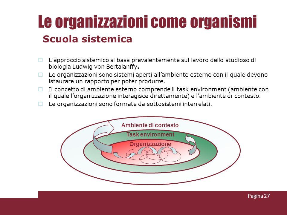 Lapproccio sistemico si basa prevalentemente sul lavoro dello studioso di biologia Ludwig von Bertalanffy. Le organizzazioni sono sistemi aperti allam