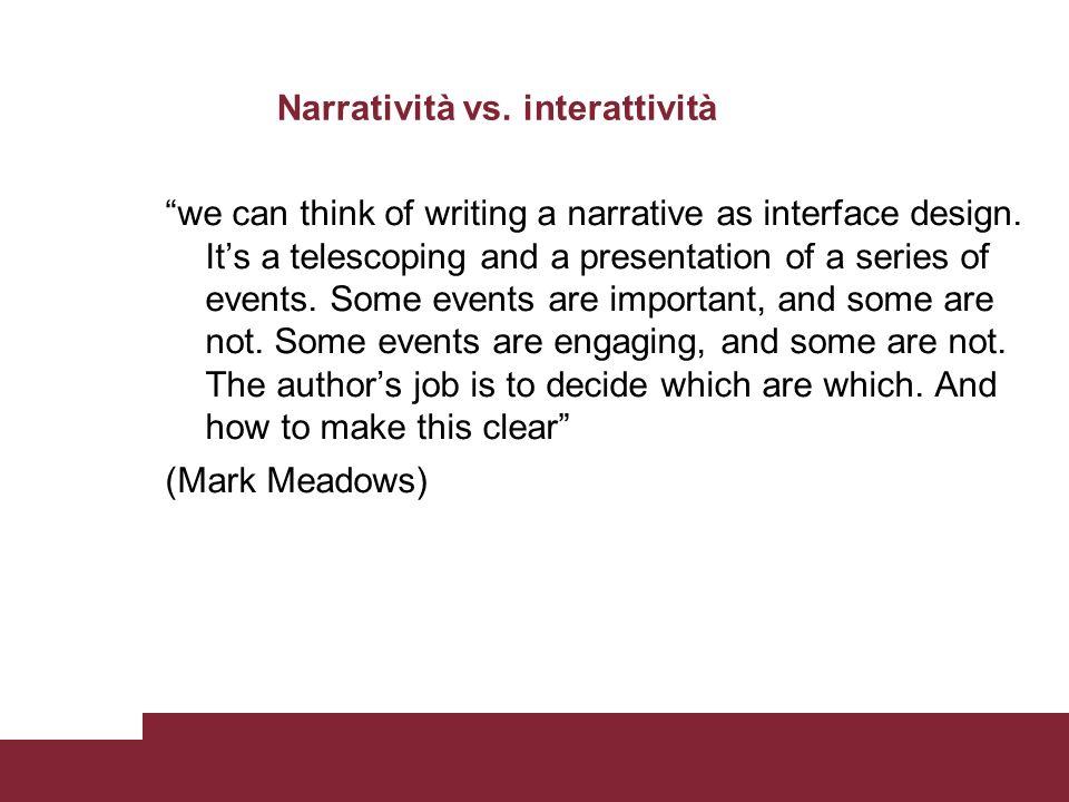 Narratività vs.