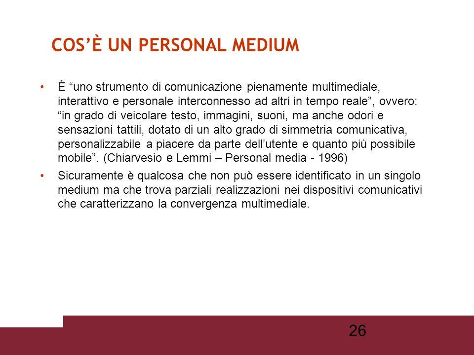 25 è un dispositivo di comunicazione multimediale, un prodotto dellelettronica di consumo che possiamo portare in tasca.