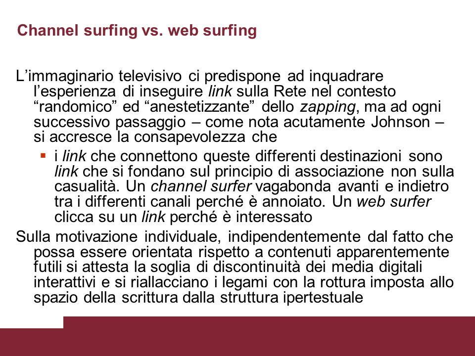 Channel surfing vs.