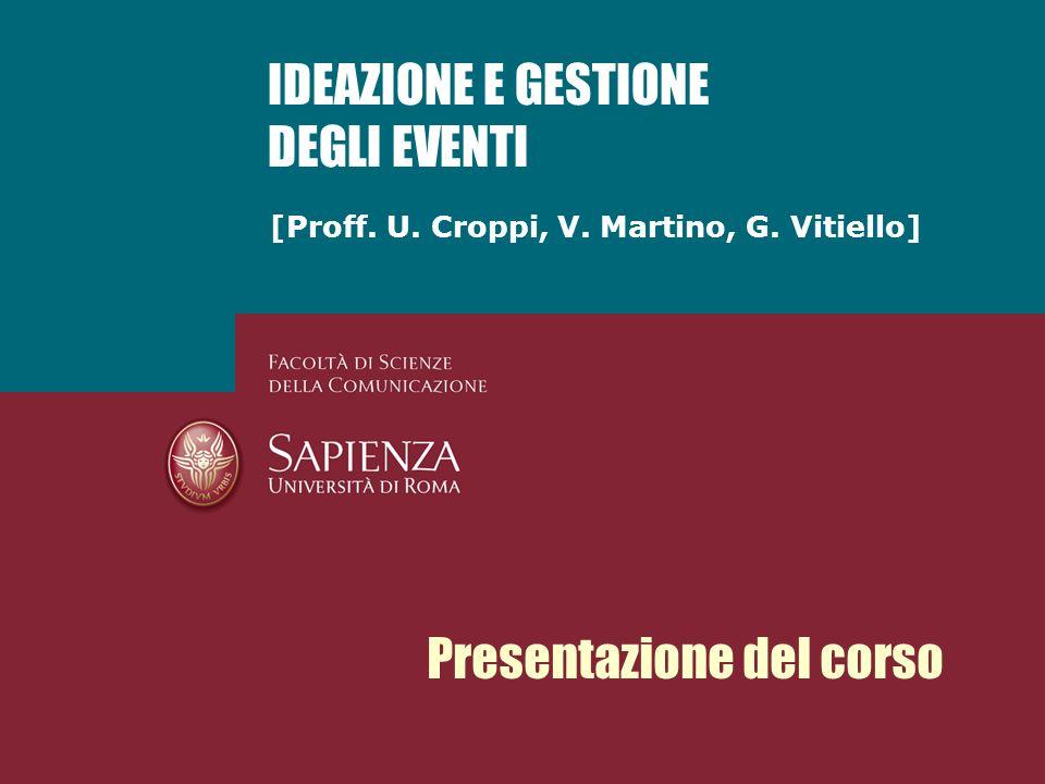 [Proff. U. Croppi, V. Martino, G.