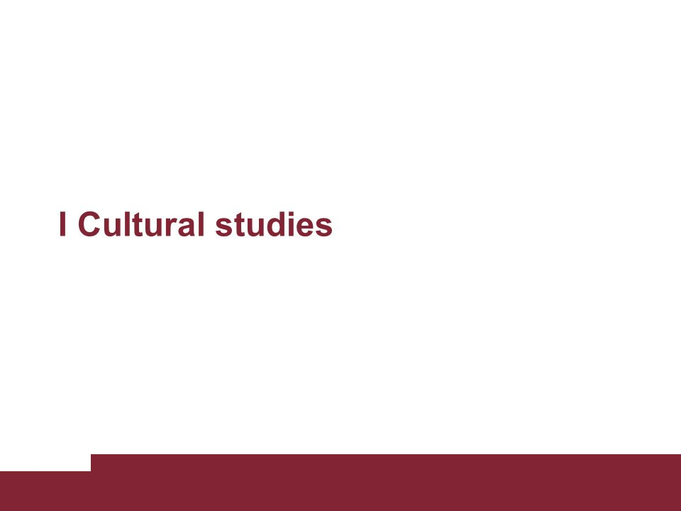 Il ruolo politico della cultura Negli anni 70 la cultura comincia, dunque, ad essere indagata dal punto di vista della sua funzione politica.