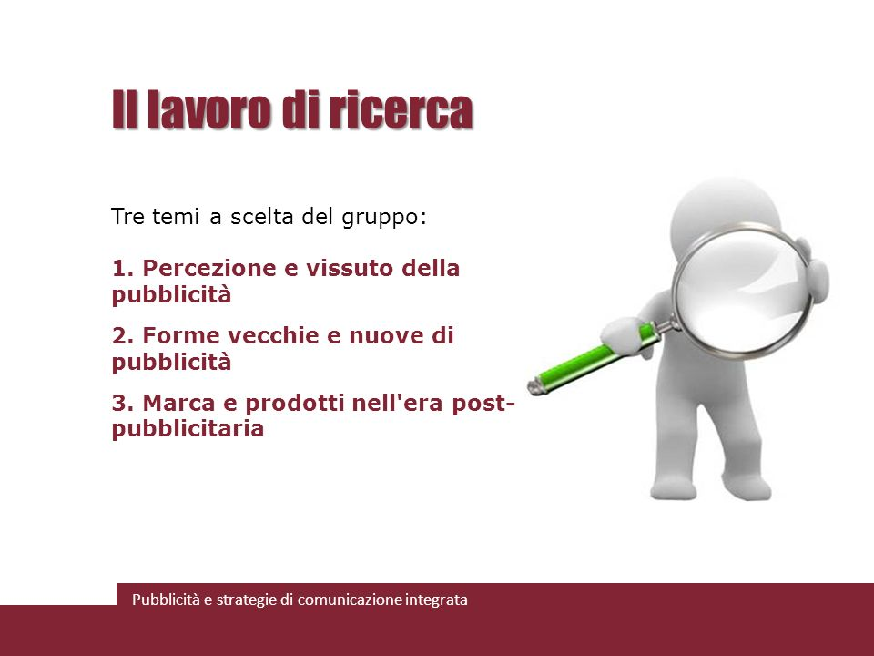 Pubblicità e strategie di comunicazione integrata I gruppi Tema 2: Forme vecchie e nuove di pubblicità.