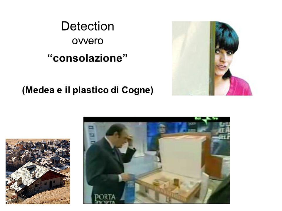 Detection ovvero consolazione (Medea e il plastico di Cogne)