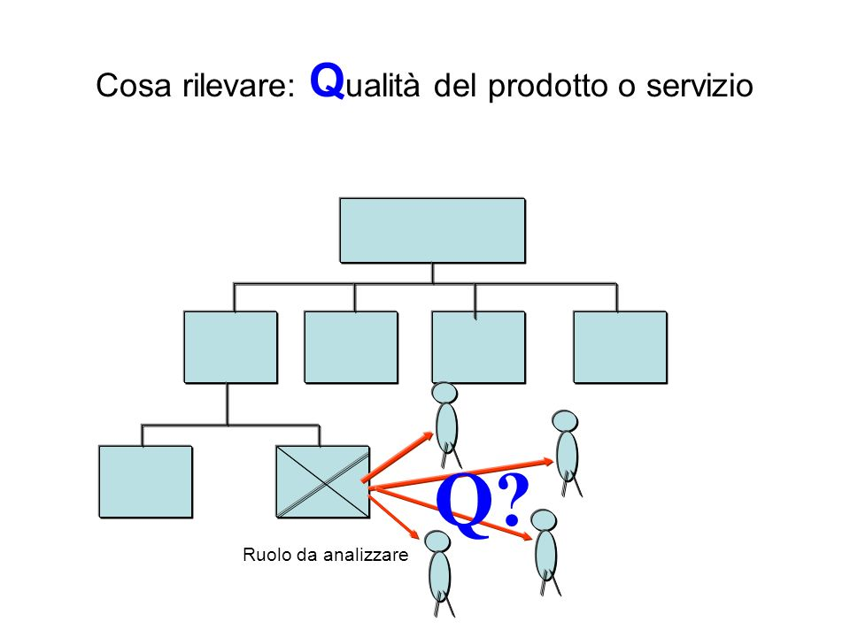 Cosa rilevare: Q ualità del prodotto o servizio Ruolo da analizzare Q?
