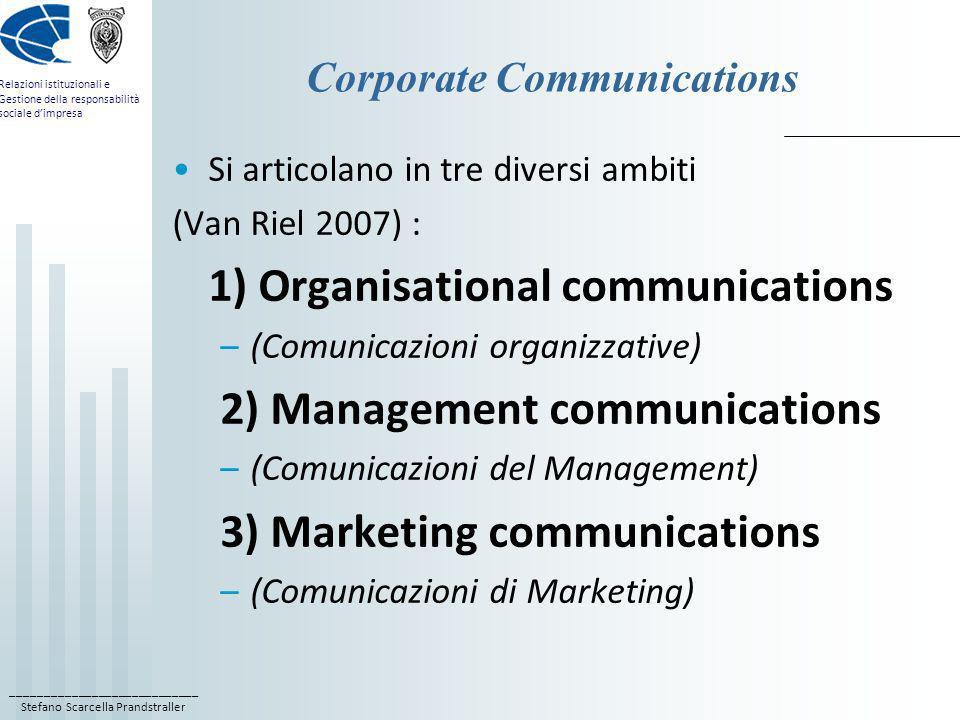 ____________________________ Stefano Scarcella Prandstraller Relazioni istituzionali e Gestione della responsabilità sociale dimpresa Corporate Commun