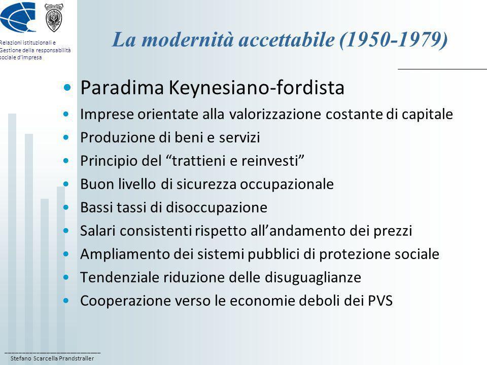 ____________________________ Stefano Scarcella Prandstraller Relazioni istituzionali e Gestione della responsabilità sociale dimpresa La modernità acc