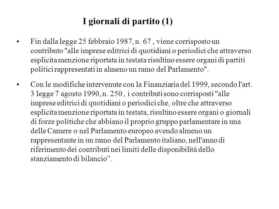Fin dalla legge 25 febbraio 1987, n. 67, viene corrisposto un contributo