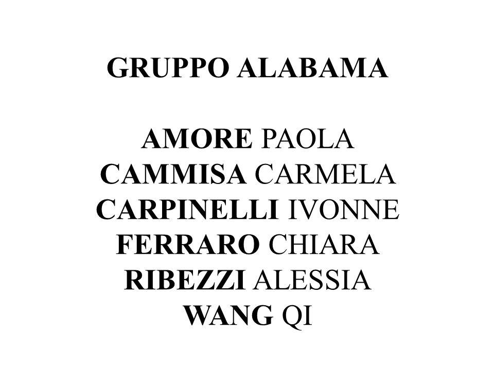 GRUPPO ALABAMA AMORE PAOLA CAMMISA CARMELA CARPINELLI IVONNE FERRARO CHIARA RIBEZZI ALESSIA WANG QI