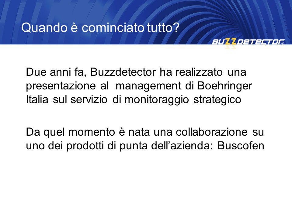 Due anni fa, Buzzdetector ha realizzato una presentazione al management di Boehringer Italia sul servizio di monitoraggio strategico Da quel momento è