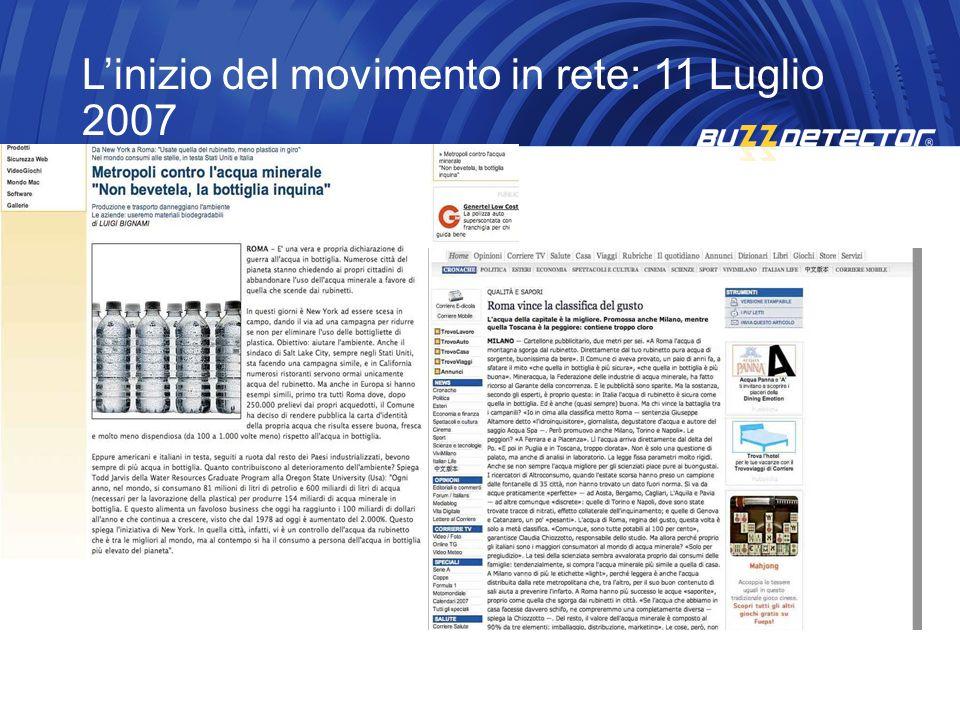 Linizio del movimento in rete: 11 Luglio 2007