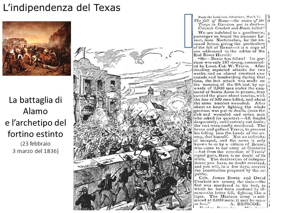 La battaglia di Alamo e larchetipo del fortino estinto ( 23 febbraio 3 marzo del 1836) Lindipendenza del Texas